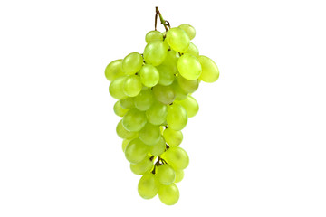 White bunch of grape on isolated white background