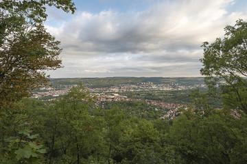 Blick vom Kirchberg nach Jena-Ost und Jena-Nord