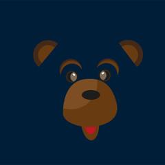 Cute birthday baby sticker with animals bear