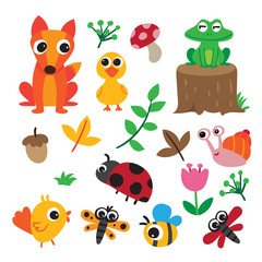animals character collection design