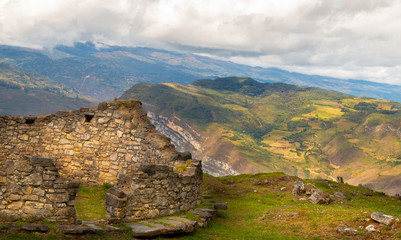 Kuelap fortress in the andes mountains of Peru