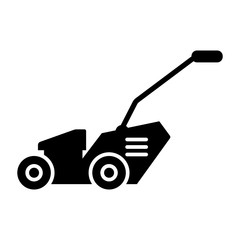 Lawn mover solid icon. vector illustration isolated on white. glyph style design, designed for web and app. Eps 10