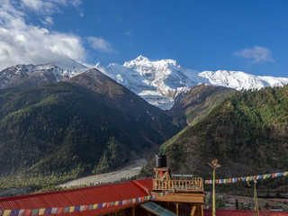 Wooden Guest House in Upper Pisang on Annapurna Circuit