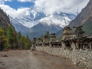 Prayer Wheels on the trail of Annapurna Circuit