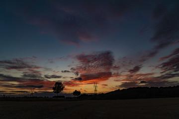 Sunset in summer in Denmark