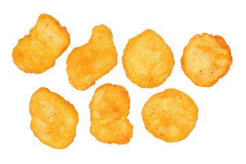 Chicken nuggets isolated