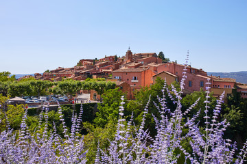 Old Town of Roussillon, Provence, France, known as one of the mo
