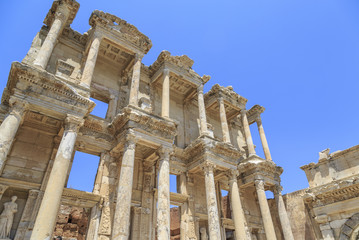 Celsus library in antique city Ephesus in Izmir, Turkey