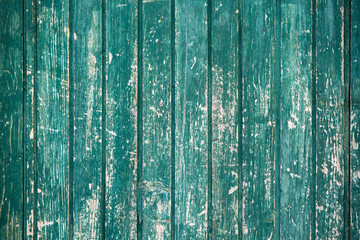 Photo sur Toile Les Textures old wooden wall, green background