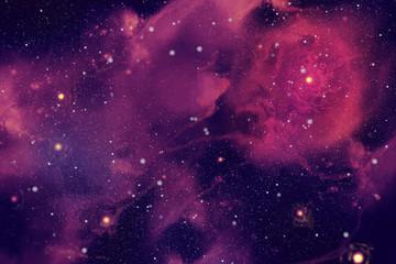 Purple nebula. Digital painting
