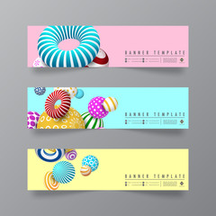 Abstract and minimal design of banners,flyer and cards template for business and web template.Vector eps10.