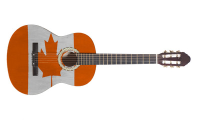 acoustic guitar with canada flag