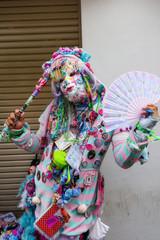 Woman in Fancy cosplay at Harajuku