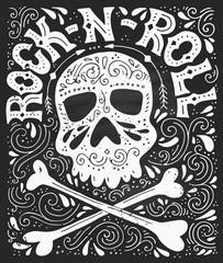 Rock-n-roll hannddrawn poster