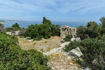 Ruins on mountain near Mediterranean Sea around Akyar region. Mersin. Turkey