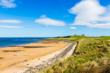 Beach at Dunstanburgh Castle in Northumberland