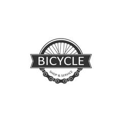 Bike badge vector. Bike logo