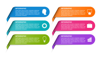 Infographic template for business presentations or information banner.