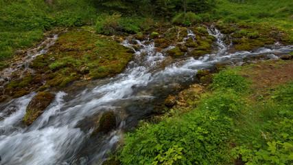 Wasserquellen im Vigiltal in den italienischen Dolomiten