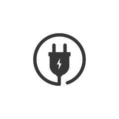 Electric plug. Vector icon