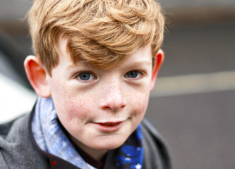 Portrait of a boy looking at the camera