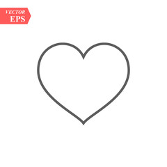 Modern heart line icon. Premium pictogram isolated on a white background. Vector illustration. Stroke high quality symbol. Heart icon in modern line style.