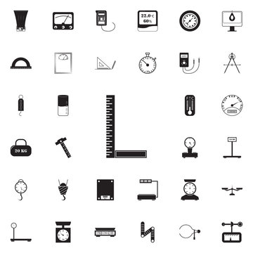 angle ruler icon. Detailed set of Measuring Elements icons. Premium quality graphic design sign. One of the collection icons for websites, web design, mobile app