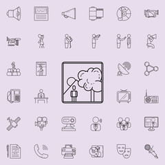picture of a man in nature icon. Detailed set of Media icons. Premium quality graphic design sign. One of the collection icons for websites, web design, mobile app