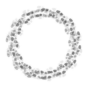 Shoes prints circle