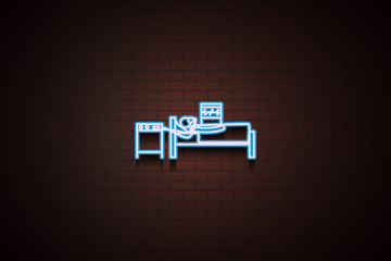 artificial life support system icon in Neon style
