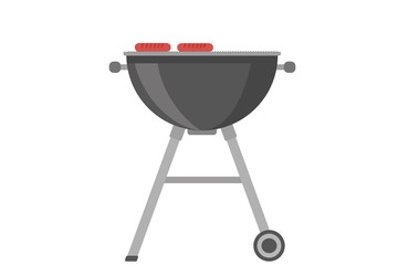 Barbecue - flat transparent vector graphic