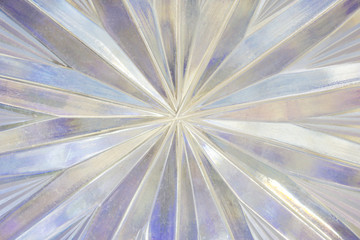 Crystal glass background.