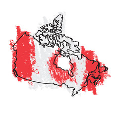 Sketch of a map of Canada