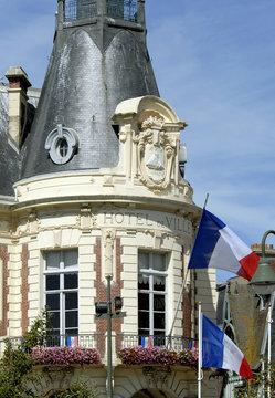 ville de Trouville, l'Hôtel de Ville, département du Calvados, Normandie, France