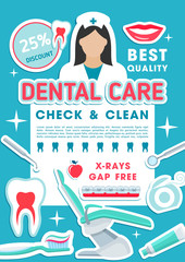 Dental clinic discount offer promotion poster