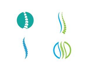 Spine diagnostics symbol logo template