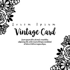 Collection tmeplate floral vintage card vector illustration