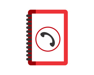 red phone book image vector icon logo symbol
