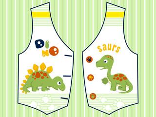 Vector illustrations of dinosaurs cartoon