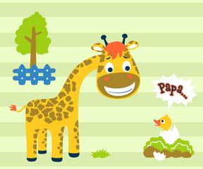 Vector illustration of nice animals cartoon