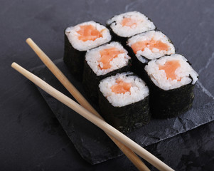 Traditional Japanese food close up