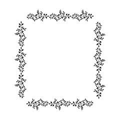 leafs square frame decorative vector illustration design