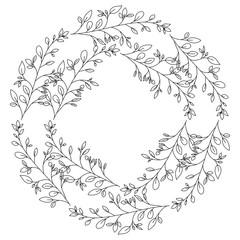 crown leafs circular frame frame vector illustration design