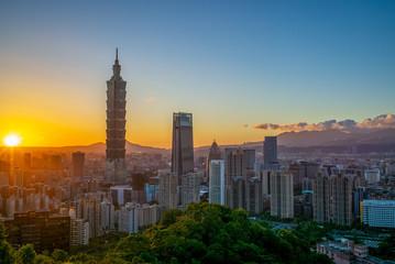 Panoramic view of Taipei City