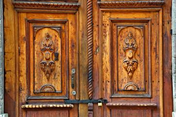 Old Wodden Double Door, Mexico City