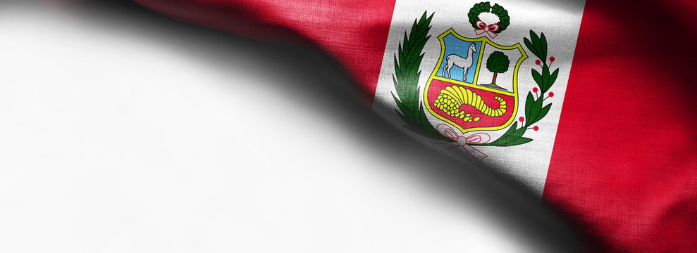 National flag of Peru on white background