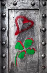 Herz und Kleeblatt Graffiti