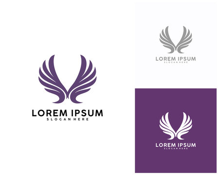 Wing icon logo design vector