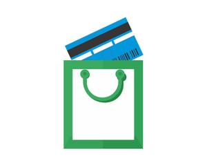 shopping card icon image vector icon logo symbol