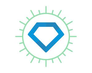 blue gemstone diamond image vector icon logo symbol